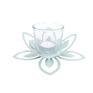 Zielony metalowy świecznik Ewax Blossom, ⌀ 26 cm