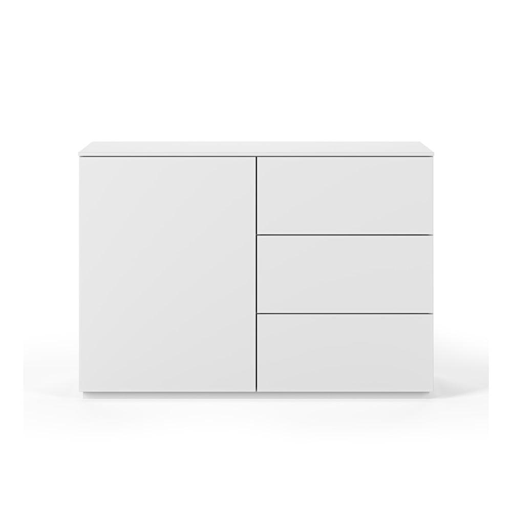 Biała komoda z białym blatem z 3 szufladami i 3 półkami TemaHome Join