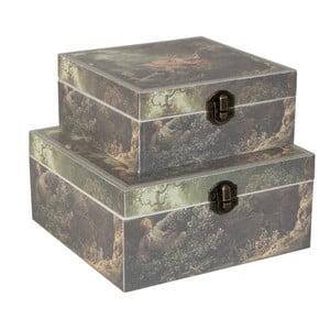 Zestaw 2 pudełek Clayre & Eef Vintage