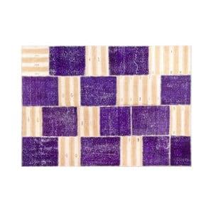 Dywan wełniany Allmode Purple, 150x80 cm