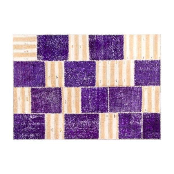 Dywan wełniany Allmode Purple, 200x140 cm