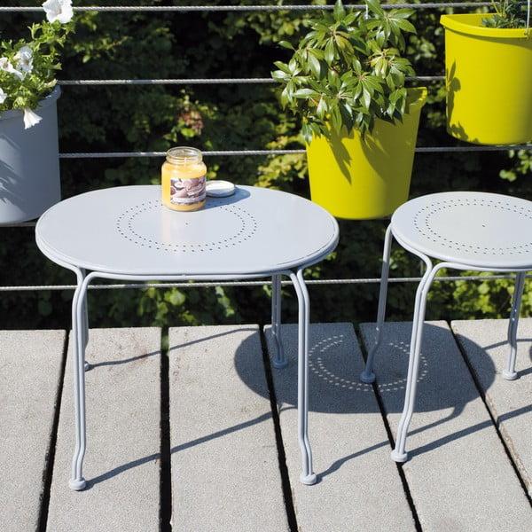 Szary stolik na balkon Esschert Design Nature, 53x44 cm