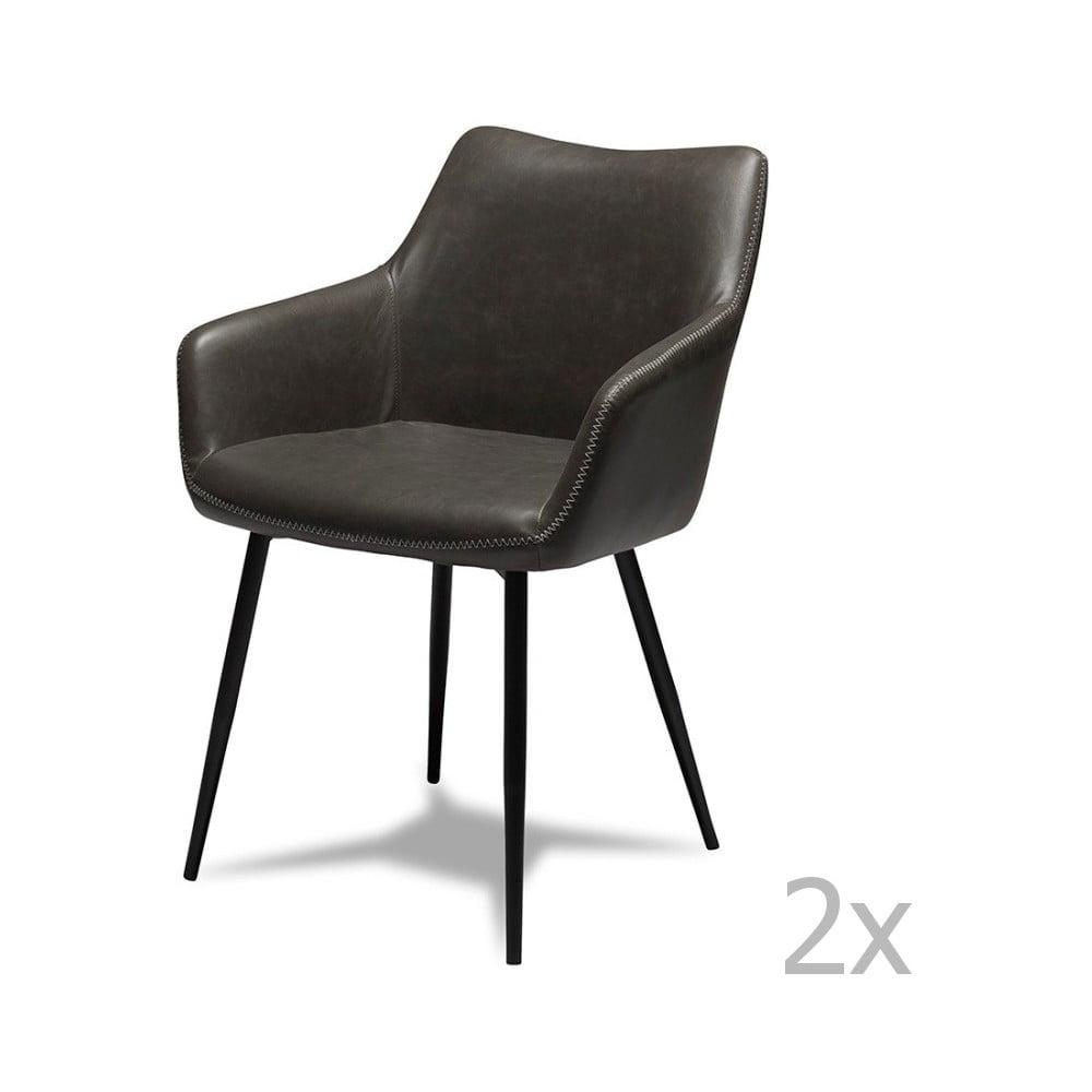 Zestaw 2 szarych krzeseł Furnhouse Maria