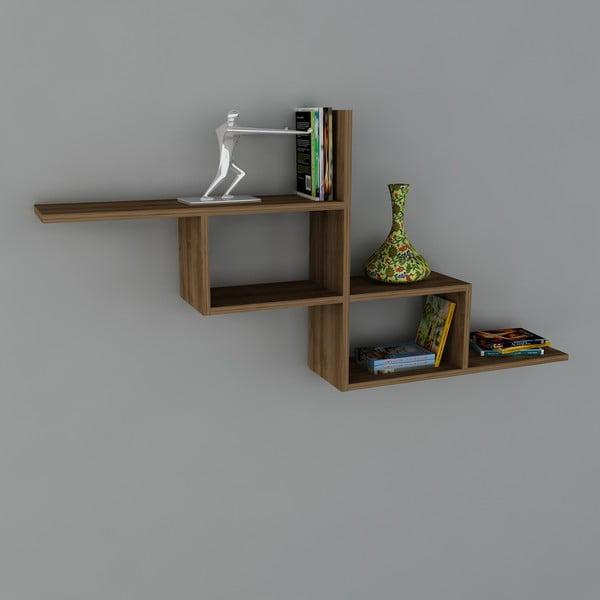 Półka Motif Book Walnut, 22x144,6x71,4 cm