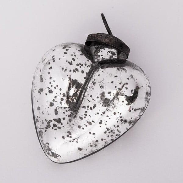 Ozdoba świąteczna Serce, 8,5 cm