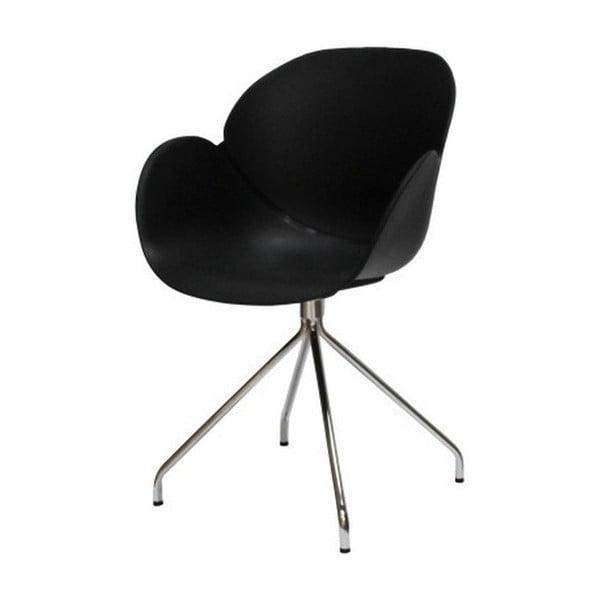 Czarne krzesło Canett Oliver