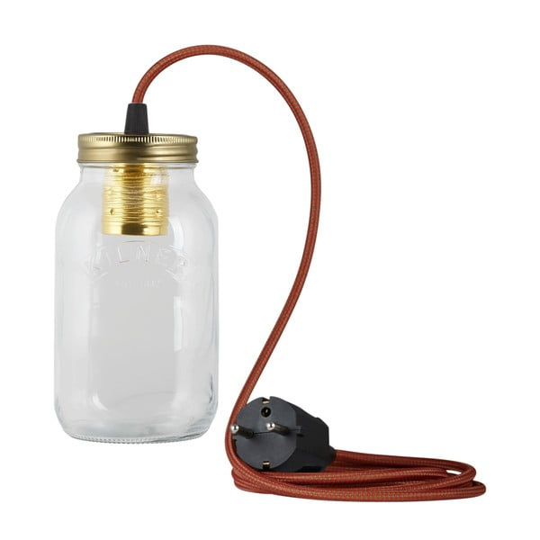 Lampa JamJar Lights, zielono-czerwony okrągły kabel