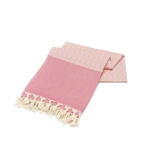 Różowy ręcznik Hammam Elmas, 100x180cm