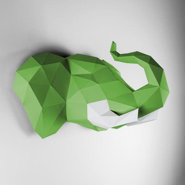 Papierowe poroże Słoń, zielono-białe
