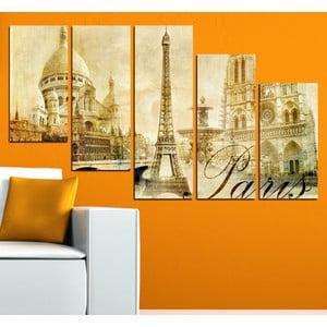 5-częściowy obraz Paryż