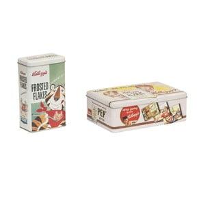 Zestaw 2 blaszanych pudełek Novita Rettangular