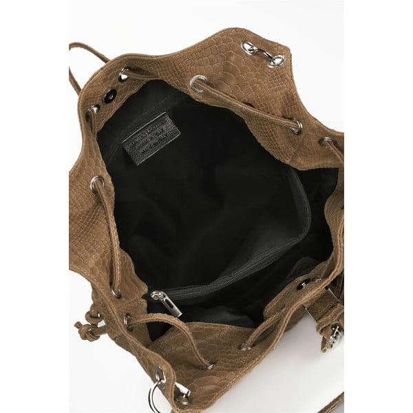 Koniakowo-brązowa torebka skórzana Lisa Minardi Divisa