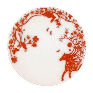 Zestaw 2 talerzyków deserowych Mohican Horse Red