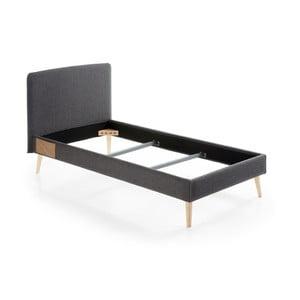 Ciemnoszare łóżko 1-osobowe La Forma Lydia, 190x90cm