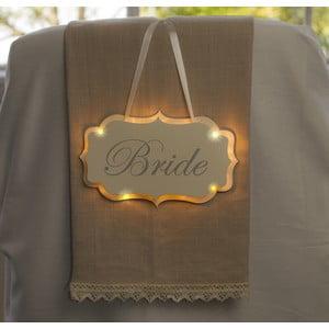 Dekoracja ślubna z lampką LED Bride Hanger