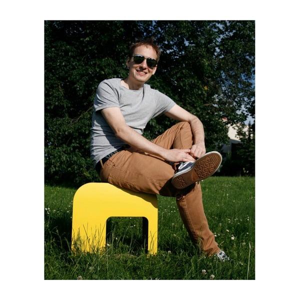 Kartonowy stołek Kartoons, naturalny