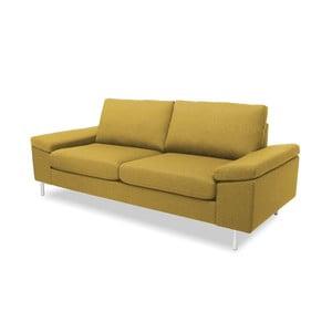 Żółta sofa dwuosobowa VIVONITA Nathan
