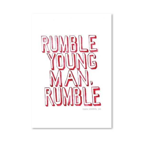 Plakat Rumble, 30x42 cm