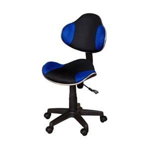 Niebieskoczarne krzesło biurowe SOB Office