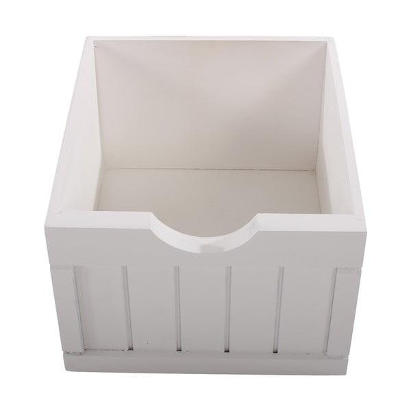 Biała komoda z 4 szufladami Mendler Shabby