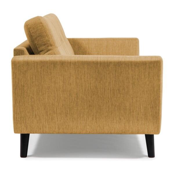 Musztardowa sofa 2-osobowa Vivonita Harlem