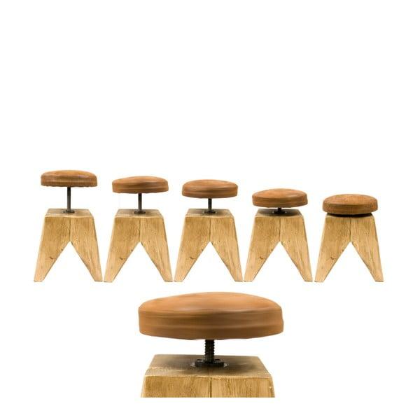 Obrotowy drewniany stołek Swivel