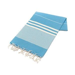 Jasnoniebieski ręcznik Hammam Hereke, 100x180cm