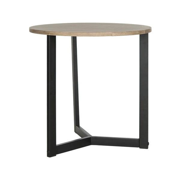 Czarny stolik z ciemnym blatem Safavieh Alyssa
