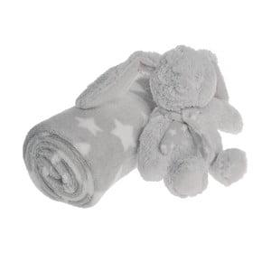 Zestaw: koc i pluszowy zając Grey