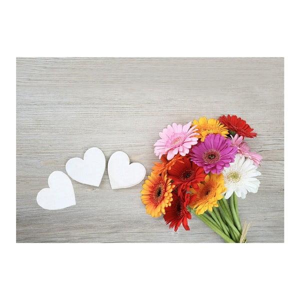 Dywan winylowy Flowers, 52x75 cm