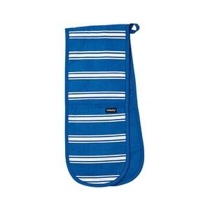 Niebieska podwójna rękawica kuchenna Ladelle Butcher Stripe