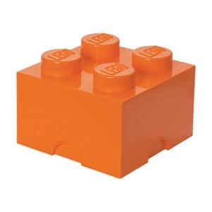 Pomarańczowy pojemnik kwadratowy LEGO®