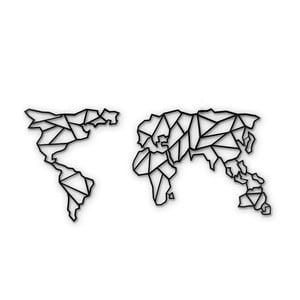 Metalowa dekoracja ścienna Map Of The World Clear, 85x170 cm