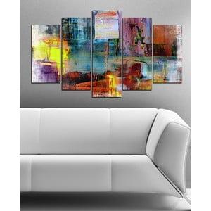 5-częściowy obraz Abstrakcyjne kolory