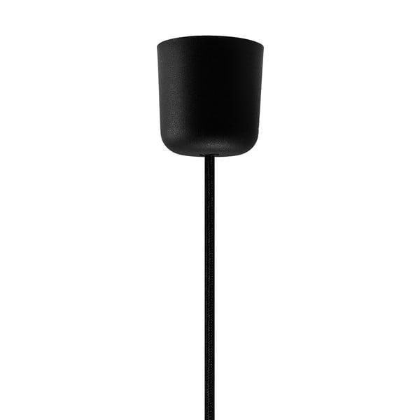 Czarna lampa wisząca z elementami w kolorze miedzi Sotto Luce Mika, Ø50 cm