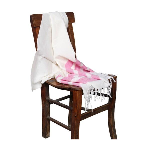 Ręcznik hammam Mimoza Pink, 90x190 cm