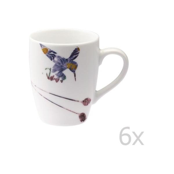Zestaw 6 porcelanowych kubków Flutter, 300 ml