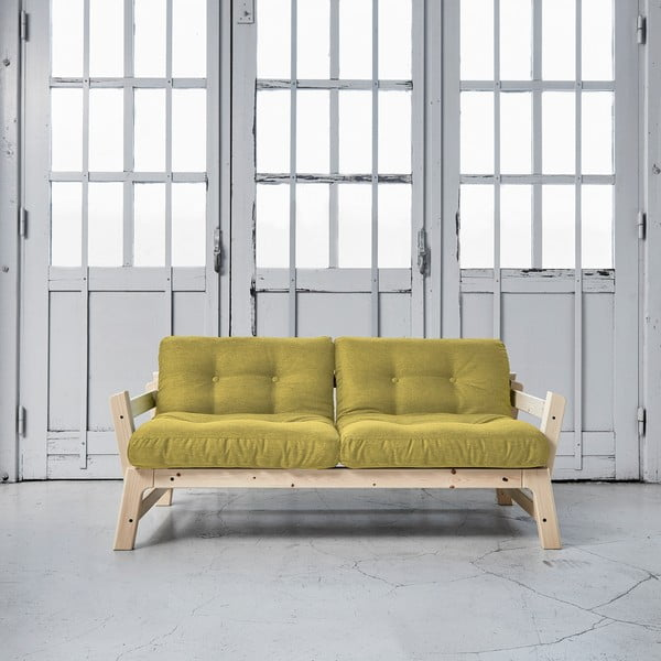 Sofa rozkładana Karup Step Natural/Avocado Green
