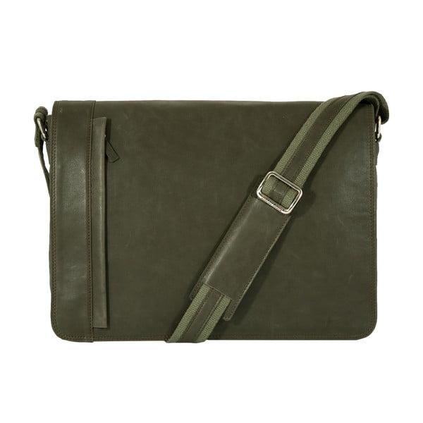 Męska torba listonoszka Vintage Green Army