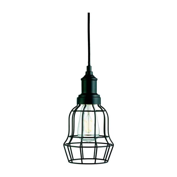 Lampa wisząca Searchlight Bell Cage, czarna