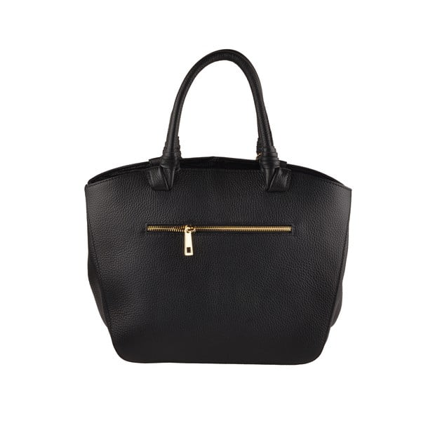 Skórzana torebka Emilio Masi Bristol, czarna