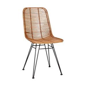 Naturalne krzesło rattanowe Hübsch Bergitte