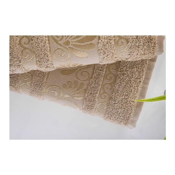 Zestaw 2 ręczników Carmen Light Brown, 50x90 i 90x150 cm
