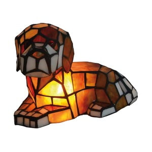 Lampa stołowa Tiffany Dog
