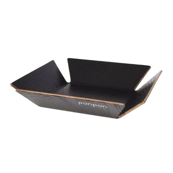 Taca drewniana Trayo 31x31 cm, czarna