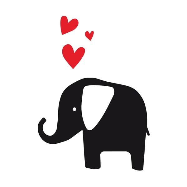 Naklejka ścienna Elephant Love