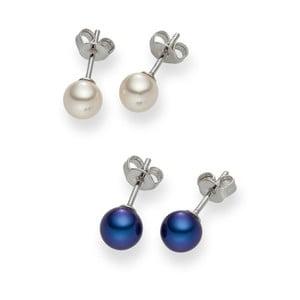 Komplet 2 par kolczyków perłowych Nova Pearls Andree