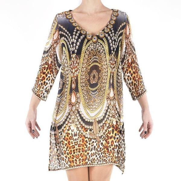 Sukienka plażowa Kurta Leopard, M