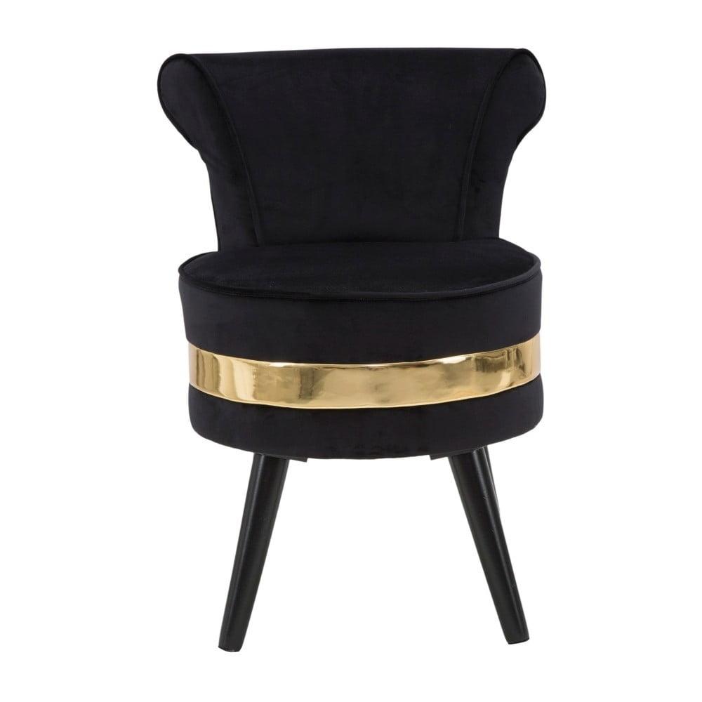 Czarny fotel tapicerowany z niskim oparciem Mauro Ferretti Paris