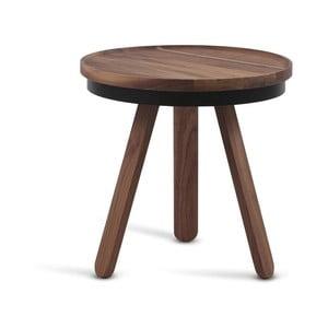 Brązowy stolik z drewna dębowego z tacą Woodendot Batea S